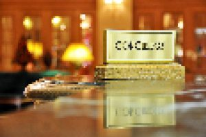 Concierge desk in a luxury hotel